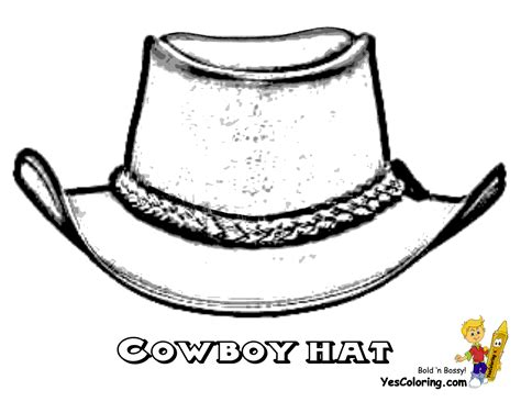 Free Coloring Pages Of Cowgirl Hat Western Hat Coloring Page
