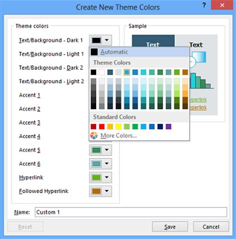 customize, change theme color, default font in microsoft