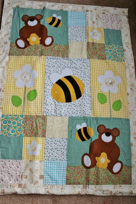 Different Types Of Patchwork - bees and bears patchwork baby quilt different types of