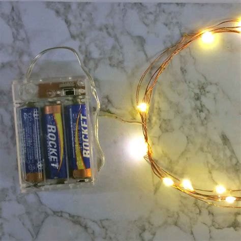 battery operated fairy lights with timer 36 led copper or silver wire string light with built in timer