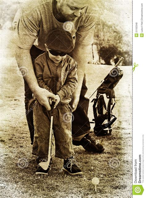 imagenes vintage golf father and son play golf stock illustration image of