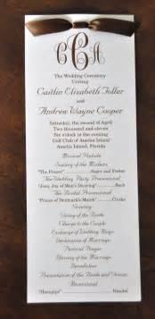Sample wedding programs march 2011