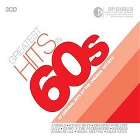 Cd Va Songs 3cd Imported greatest hits of the 60 s 3cd box set co uk