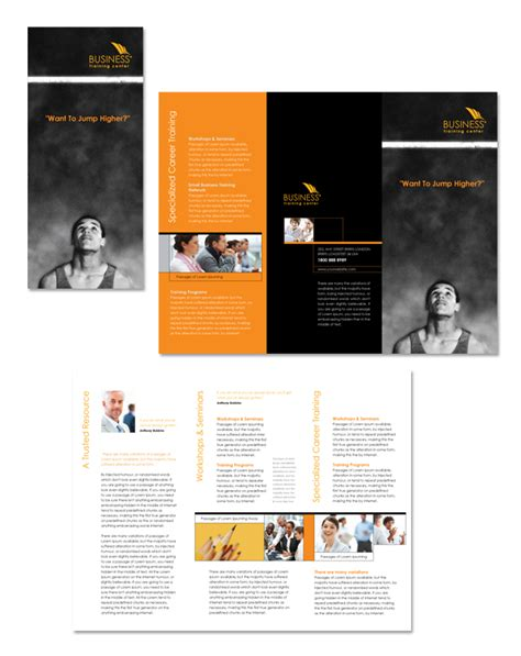 course brochure template business center tri fold brochure template
