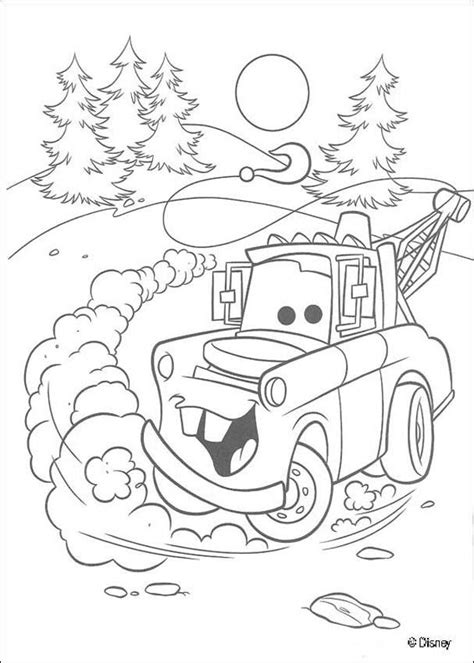 coloring pictures of mater from cars mater coloring pages hellokids com