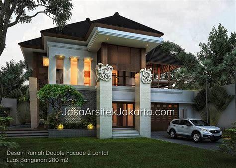 desain rumah zen desain rumah double facade 2 lantai luas bangunan 280 m2