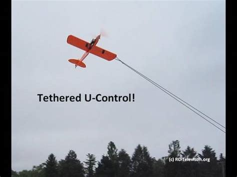 """tethered rc """"buster"""" ukie airplane with rc elevator and"""