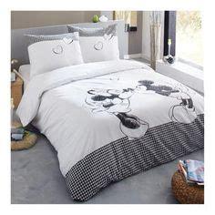 mickey et minnie parure de lit housse de couette r 233 versible 140 x 200 cm d 233 co
