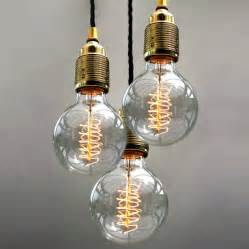 bulb pendant light set of three bulb pendant lights by unique s co