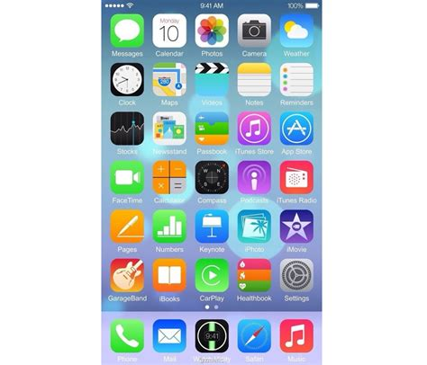 ios layout iphone 6 leaked screenshots shows ios 8 on a large screen iphone