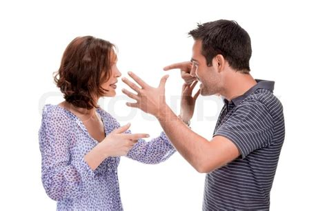wallpaper of angry couple angry couple yelling at each other isolated over white