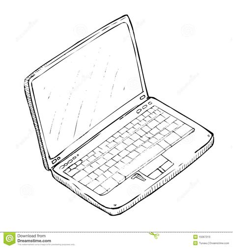 Drawing Laptop by Drawing Laptop Stock Photos Image 15067313