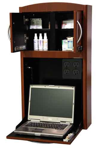 wall mount laptop cabinet wall mounted patient room computer charting cabinet