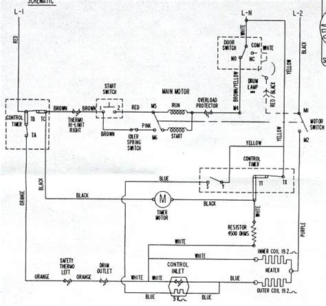 Clothes Dryer Wiring Diagram Appliantology Archive Washer And Dryer Wiring Diagrams