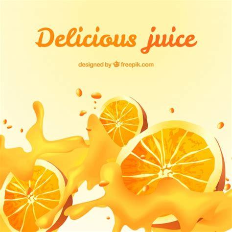 juice design background delicious orange juice background in realistic design