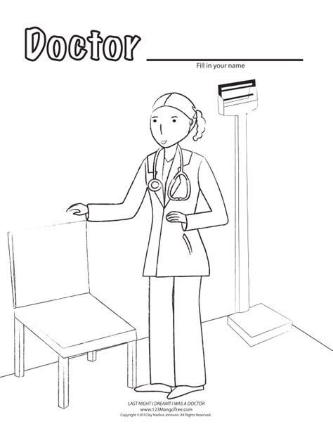 cute doctor coloring page girl doctor colouring pages page 2 az coloring pages