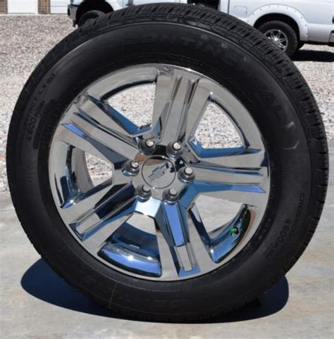 chevrolet tires chevy 20 inch chrome clad ltz wheels tire package oem