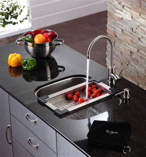 Kitchen Sink Accessory Kitchen Accessories By Kraus Modern Kitchen New York By Expressdecor