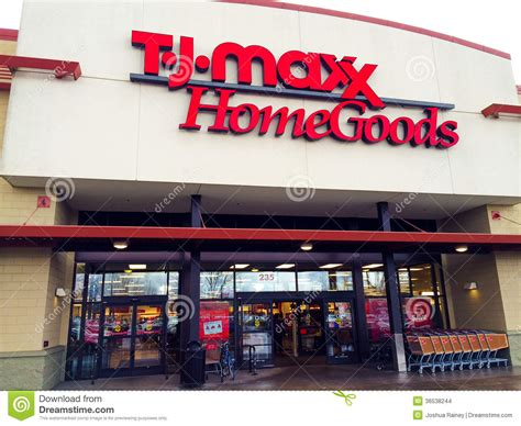 salt l tj maxx tj maxx home goods eugene or editorial stock image