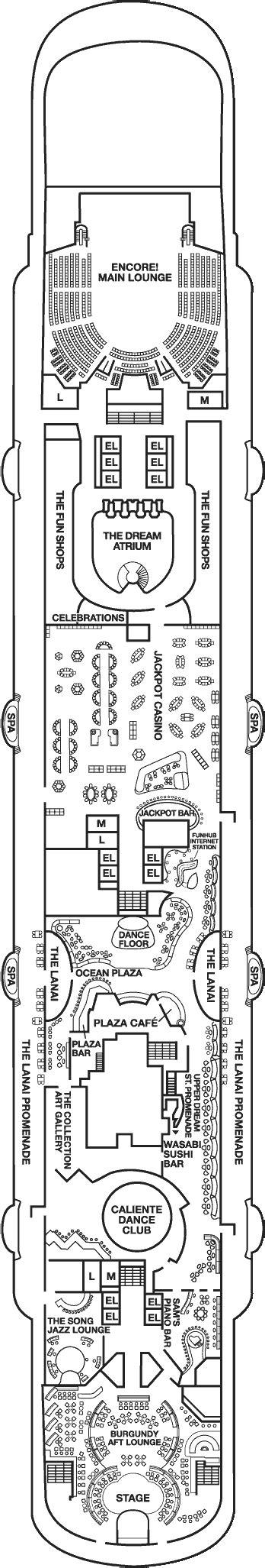 carnival dream deck 10 plan cruisemapper carnival dream deck plans