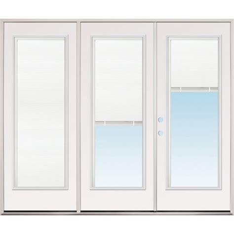 Prehung Patio Doors Discount 8 0 Quot Wide Miniblind Lite Fiberglass Patio Prehung Door Unit