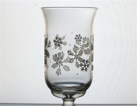 home interiors peg votive candle holder snowflakes
