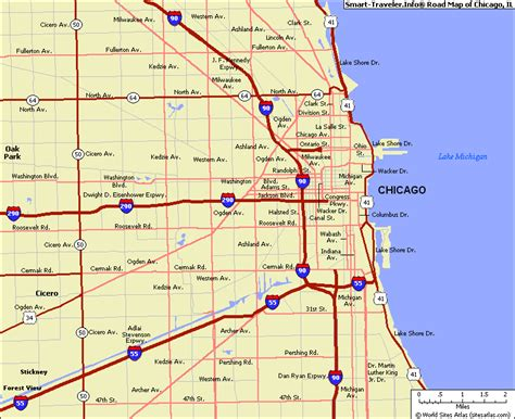 chicago on the map map of chicago illinois travelsmaps
