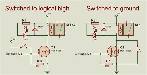 arduino  issues  driving relay  logic levels electrical engineering stack exchange