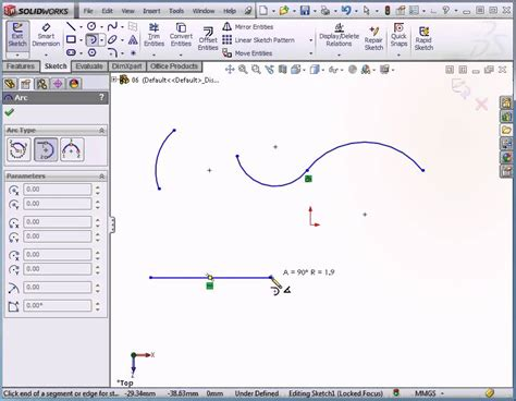 tutorial solidworks 2012 solidworks 2012 video tutorial how to use the arc tool