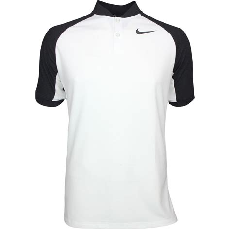 Golf Nike Black Shirt nike golf shirt nk raglan blade white black aw17