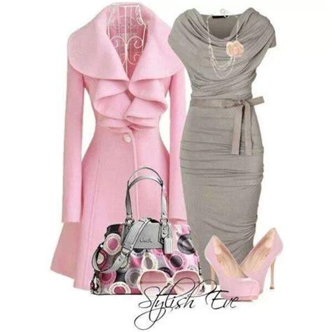 stylish eve gray hair dress grey dress coat pink ruffles cowelneck dress