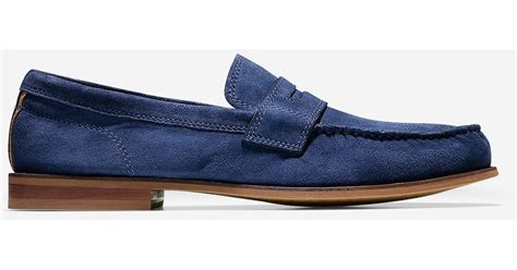 cole haan topsail loafer in blue for lyst