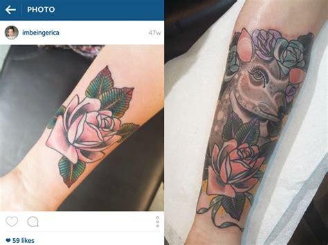tattoo healing rough tattoo update being erica