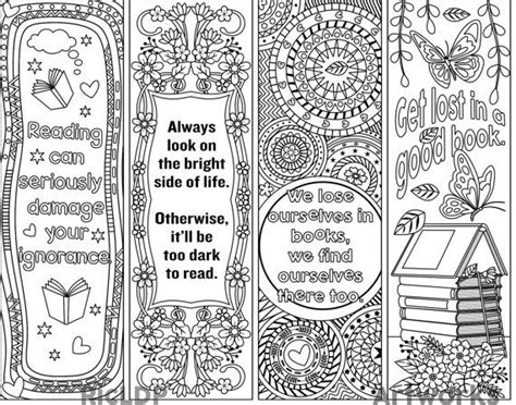 printable good luck bookmarks printable coloring bookmark templates with four designs