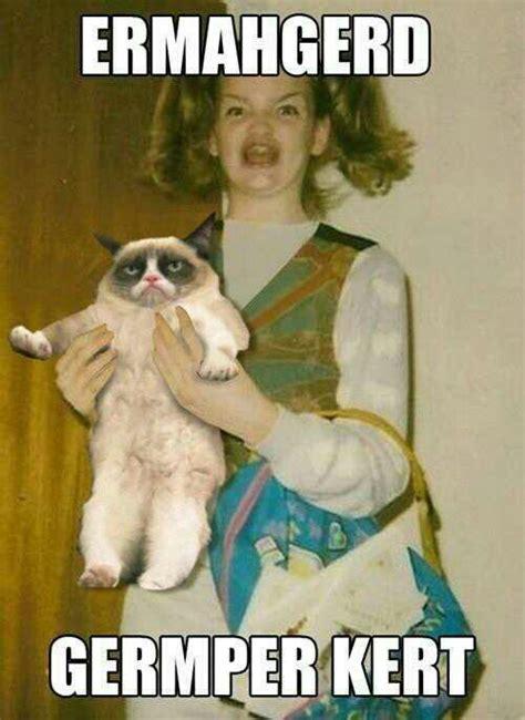 Er Mer Gerd Meme - grumpy cat ermahgerd