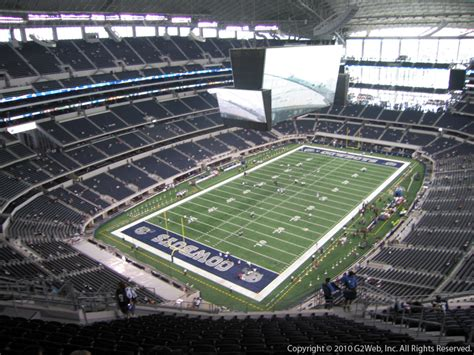 at t stadium sections at t stadium section 451 dallas cowboys rateyourseats com
