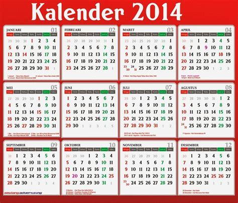 contoh layout kalender desain kalender 2014