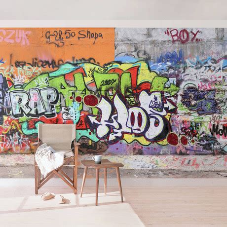 graffiti wallpaper sles graffiti wall your deco shop touch of modern