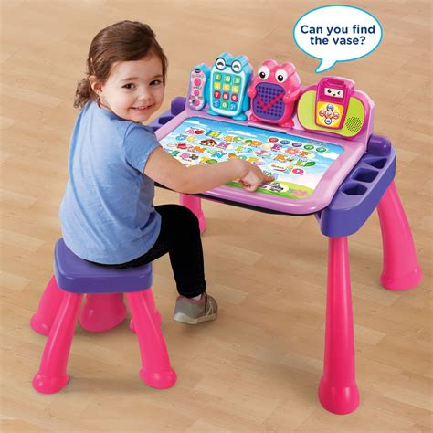 vtech touch and learn activity desk pink vtech touch and learn activity desk deluxe pink amazon