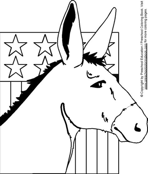 election day coloring pages preschool how to draw election