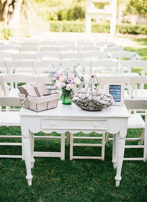 Wedding Ceremony Table by Rustic Wedding At The Powers House