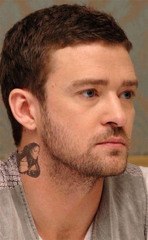 justin timberlake tattoo justin timberlake s janet jackson neck lolz
