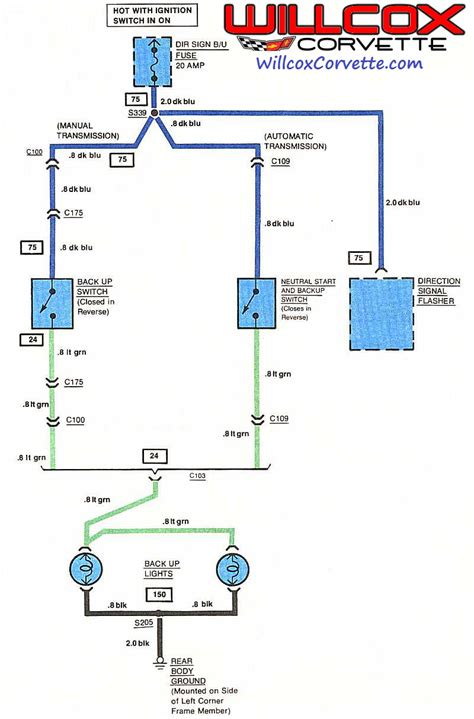 wiring diagram safety backup switch corvetteforum