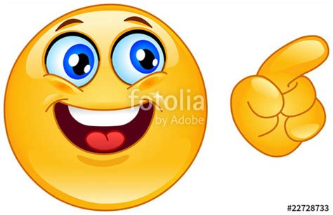 clipart faccine quot pointing emoticon quot stock image and royalty free vector