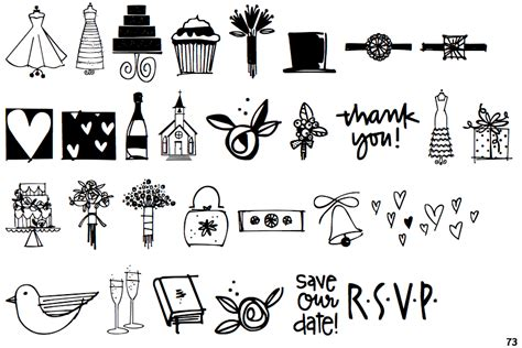 Wedding Font Dingbats by Identifont Wedding Doodles