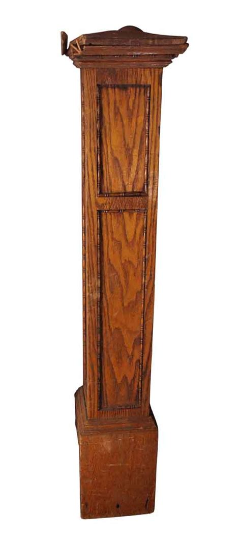 antique newel post l antique oak beaded newel post olde good things