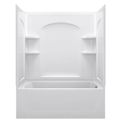shower kits for bathtubs shop sterling ensemble afd white vikrell wall and floor 4