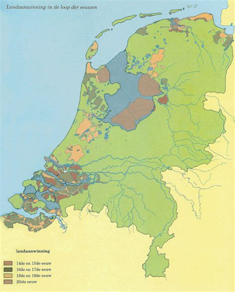 netherlands map reclaimed land map of reclaimed land in the netherlands maps on the web