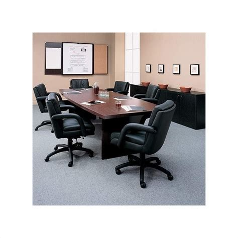 global total office boat shaped 6 conference table with