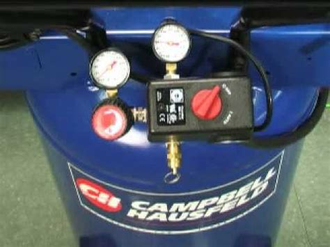 campbell hausfeld air compressor maintenance  storage